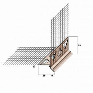 Arranque con goterón de PVC+malla fv ó Aluminio