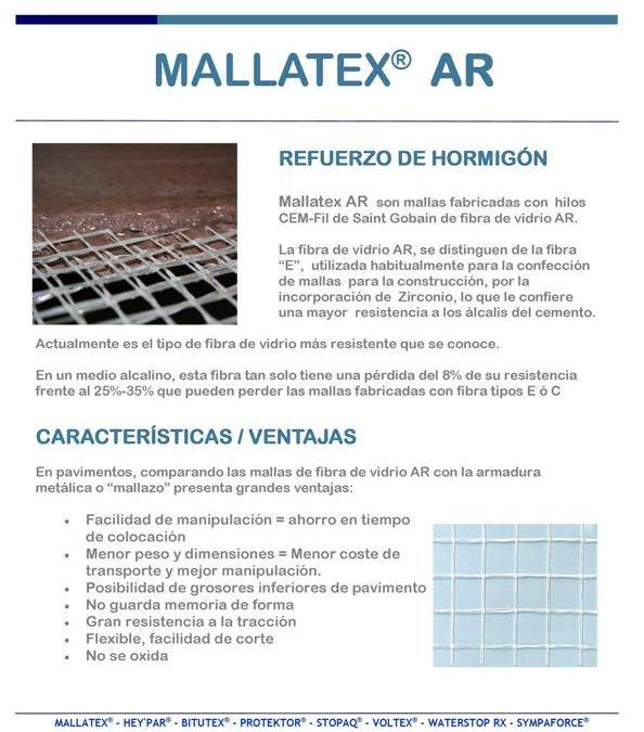 MALLATEX AR malla de fibra de vidrio CEM-FIL