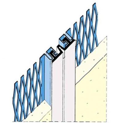Perfil para juntas de dilatación en fachadas